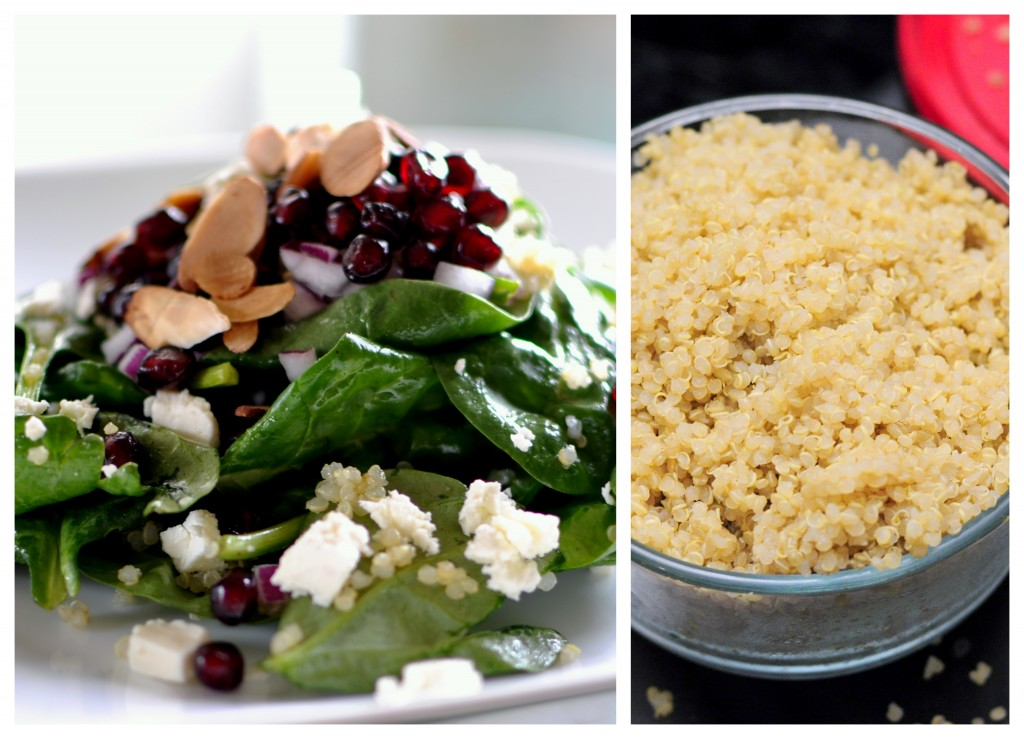 Pomegranate Quinoa Spinach Salad