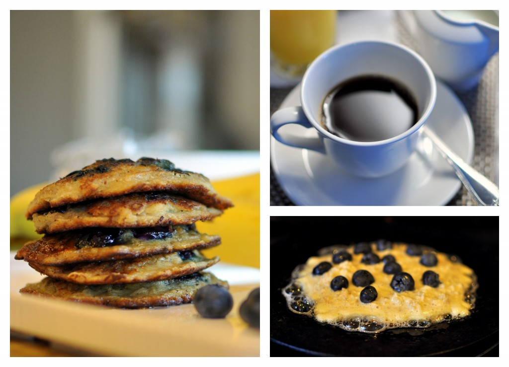 Oatmeal blueberry Pancake